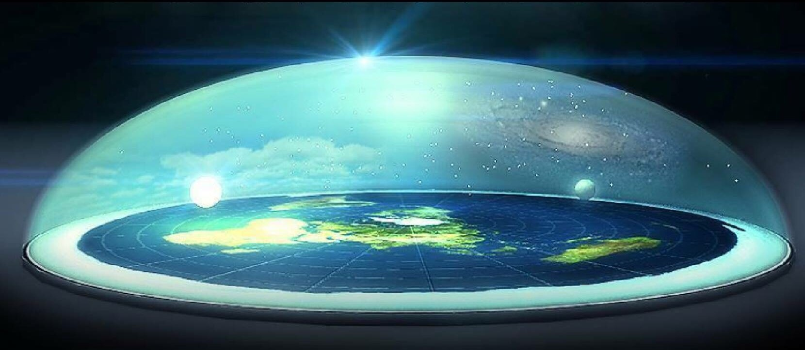 Image result for domed flat earth