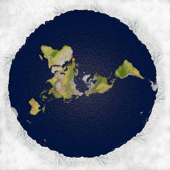 flat earth map hd