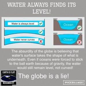 Image result for water flat earth