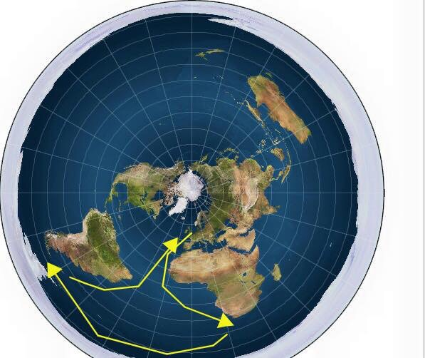 Vendee Global Yacht Race Route Points to a Flat Earth